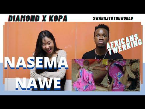 Diamond Platnumz Ft Khopa - Nasema Nawe (AFRICANS TWERKING) | Reaction Video + Learn Swahili |