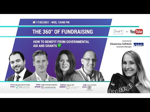 THE 360° OF FUNDRAISING - Episode 4: How to benefit from governmental aid and grants