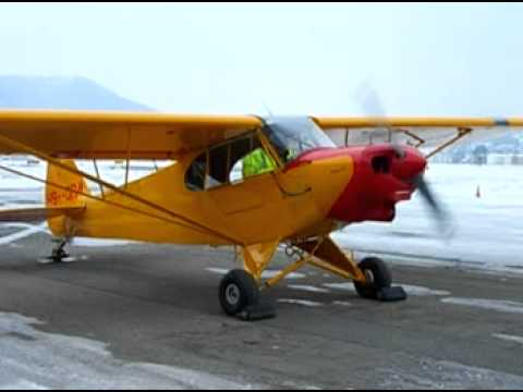 Piper Supercub: First engine run after major overhaul
