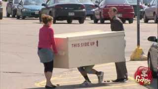 Two Legged Box Prank - Just For Laughs Gags