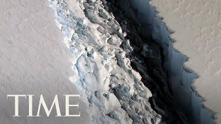 A vast iceberg with twice the volume of Lake Erie has broken off from a key floating ice shelf in Antarctica, scientists said Wednesday Subscribe to TIME ►► ...
