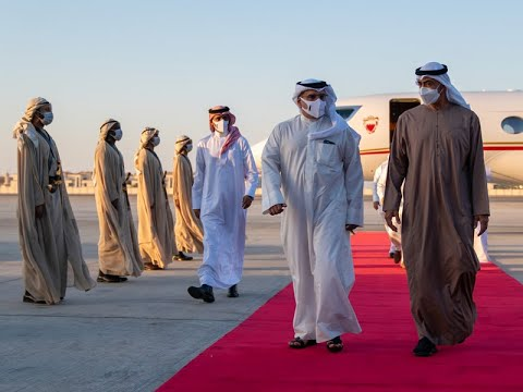 HRH the Crown Prince and Prime Minister arrives in the United Arab Emirates