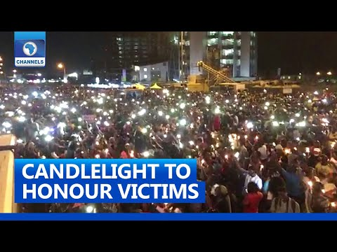 #EndSARS Protesters Hold Candlelight Rally To Honour Victims Of Police Brutality