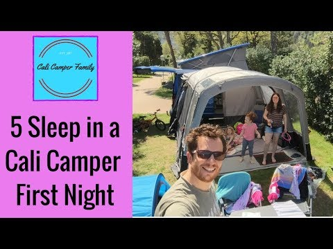 Vw California (2018) - Family Of 5 Sleep The First Night