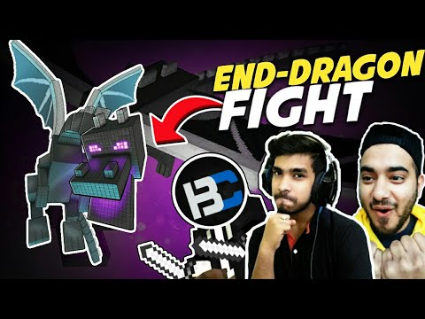 Most Powerful Ender Dragon Fight 😱 | Their Reaction | Win/lose | Battle Factor