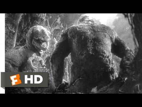 King Kong (1933) - Kong vs. T-Rex Scene (4/10) | Movieclips