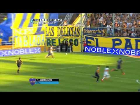 Gol de Chávez. Central 0 - Boca 1. Fecha 30. Primera División 2015. FPT.