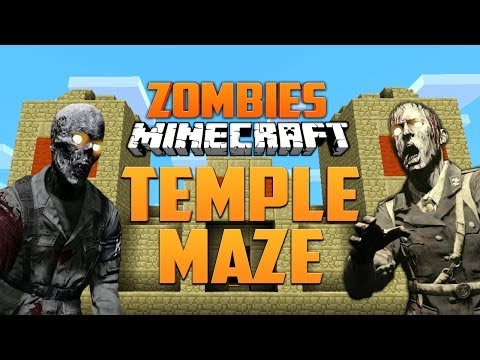 MINECRAFT ZOMBIE TEMPLE MAZE ★ Call of Duty Zombies (Zombie Games)