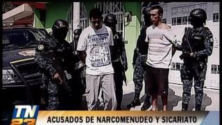 El allanamiento se realizó en Sanarate y la ciudad capital Los nueve capturados, se presume, pertenecen a una banda dedicada a la distribución de droga y el sicariato.