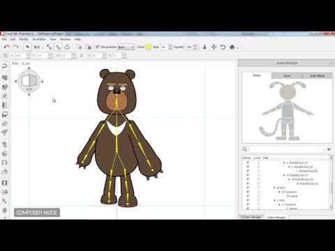 CrazyTalk Animator 2 Tutorial – Basic Character Creation in Flash Part 2