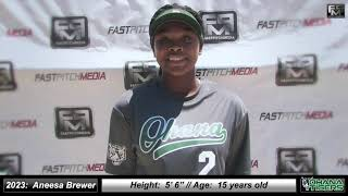 2023 Aneesa Brewer Athletic Outfield Softball Skills Video - Ohana Tigers