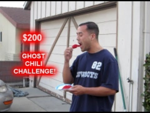 $200 GHOST CHILI PEPPER CHALLENGE!