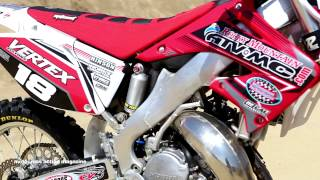 2. Motocross Action tests a 2003 Honda CR125 2 Stroke Project Bike