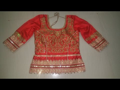 Video Long choli blouse cutting and stitching download in MP3, 3GP, MP4, WEBM, AVI, FLV January 2017