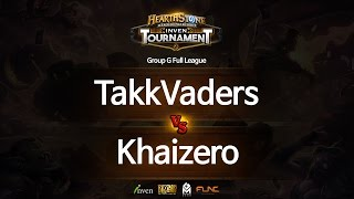 하스스톤 인벤 토너먼트 7회 1라운드 TakkVaders VS Khaizero