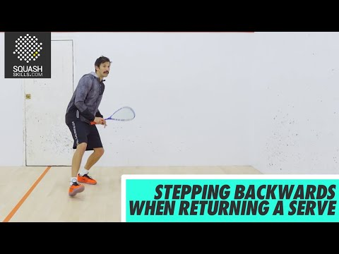 Squash Tips: Amateur Analysis - Stepping Backwards When Returning A Serve