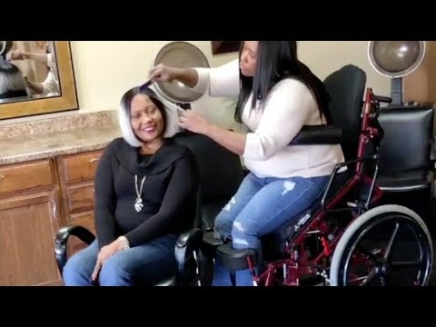 Paralyzed Women Accomplishes Hair Styling Dream
