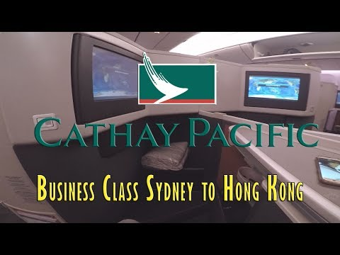 CX138 Cathay Pacific Business Class Sydney To HK 2018
