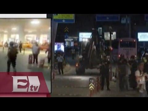 Imágenes en vivo del aeropuerto de Estambul tras atentado