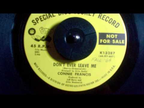 DON'T EVER LEAVE ME Connie Francis Produced by Ellie Greenwich and Jeff Barry видео