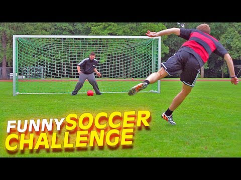 Funny german youtubers football challenge