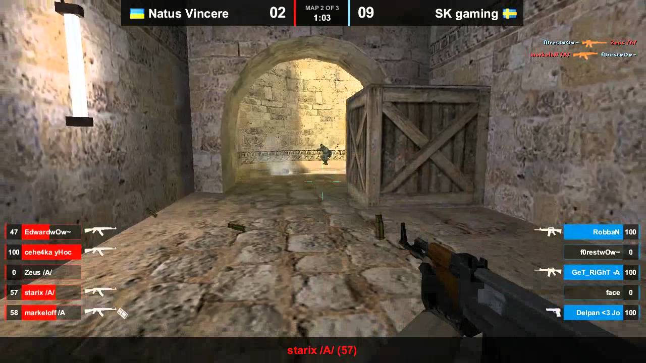 Na`Vi vs. SK dust2 map 2