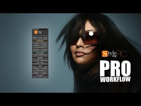 Skin Retouching and Color Grading with StyleMyPic Pro Workflow Photoshop Extension Panel