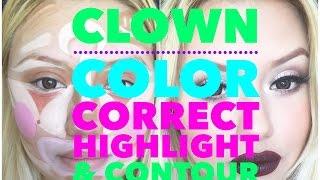 Clown Color Correct Highlight & Contour - YouTube