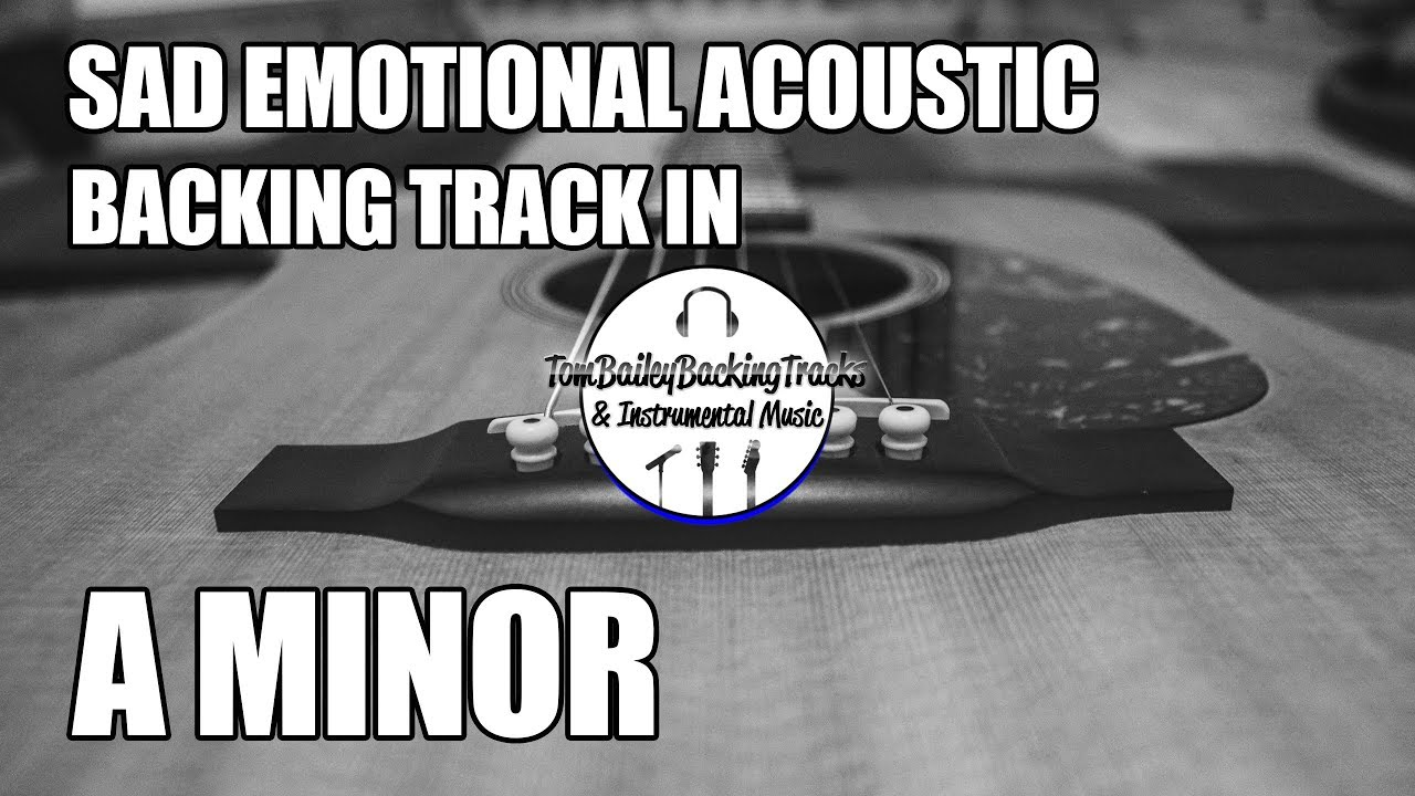 Sad Emotional Acoustic Backing Track In A Minor | Lonely Road