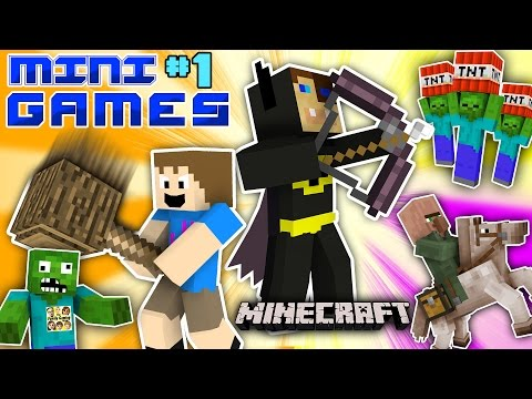 MINECRAFT BATMAN vs. FGTEEV CHASE MINI-GAMES #1 (Duddy's Fun Challenge Map / World Gameplay) (видео)