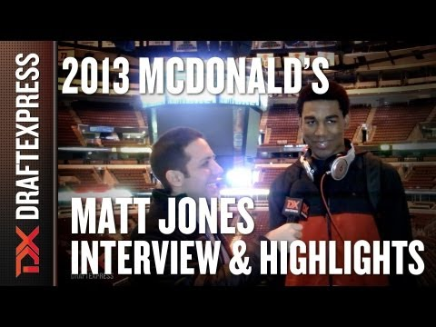 Matt Jones - 2013 McDonald's All-American Game - Interview & Practice Highlights