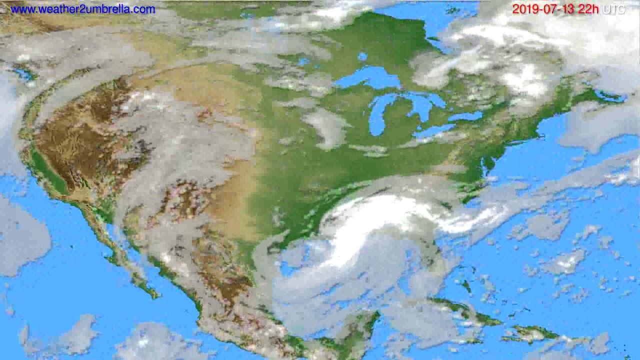 Cloud forecast USA & Canada // modelrun: 00h UTC 2019-07-11