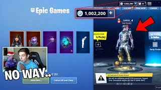 I tried MERGING with BANNED RICHEST FORTNITE ACCOUNT.. (1 mil vbucks)