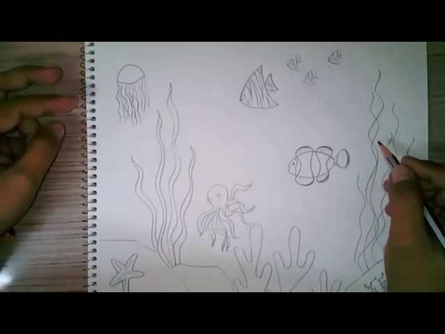 Underwater drawing for kids