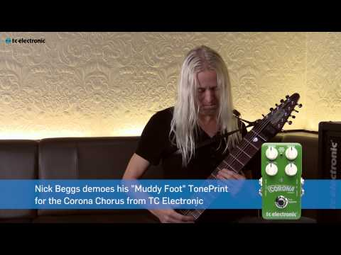 "Nick Beggs demos his ""Muddy Foot"" TonePrint for the Corona Chorus pedal from TC Electronic"