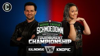 Innergeekdom Championship! Mike Kalinowski VS Mara Knopic - Movie Trivia Schmoedown by Collider