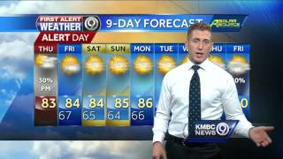 Rain is moving out of the Kansas City area after heavy rains early Thursday. Look for a high near 83 degrees.Subscribe to KMBC on YouTube now for more: http://bit.ly/1fXGVrhGet more Kansas City news: http://kmbc.comLike us:http://facebook.com/kmbc9Follow us: http://twitter.com/kmbcGoogle+: http://plus.google.com/+KMBC