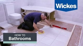 Video How to Tile a Bathroom Floor with Wickes MP3, 3GP, MP4, WEBM, AVI, FLV Agustus 2019