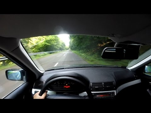 BMW E46 320i Test Drive onboard