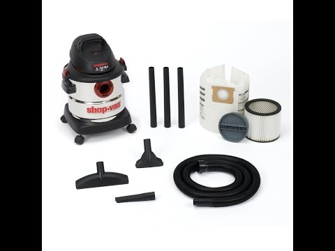 Review:  Shop-Vac 5986000 5-Gallon 4.5 Peak HP Stainless Steel Wet Dry Vacuum