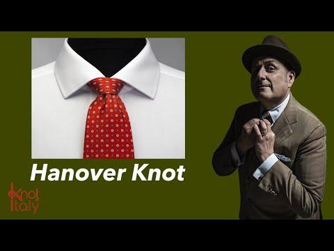 How to Tie a Tie - Hanover Knot - Come fare il nodo alla Cravatta - Nodo Hanover видео