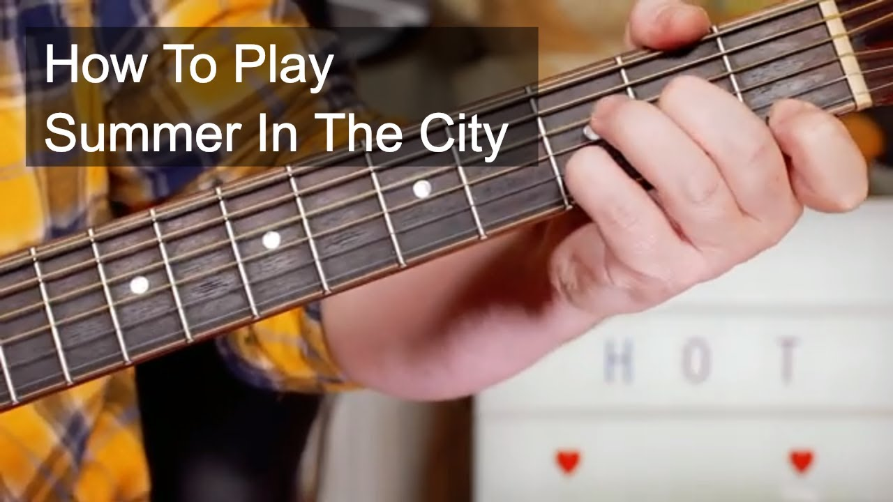 'Summer In The City' Lovin' Spoonful Acoustic Guitar Lesson
