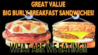 Video Great Value Big Burly Breakfast Sandwiches - WHAT ARE WE EATING?? - The Wolfe Pit MP3, 3GP, MP4, WEBM, AVI, FLV Desember 2018