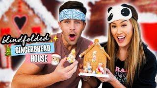 Blindfolded Gingerbread Houses w/ Josh Peck by LaurDIY