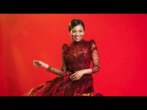 Bonang shoots a Christmas cover for Parisian magazine Amina
