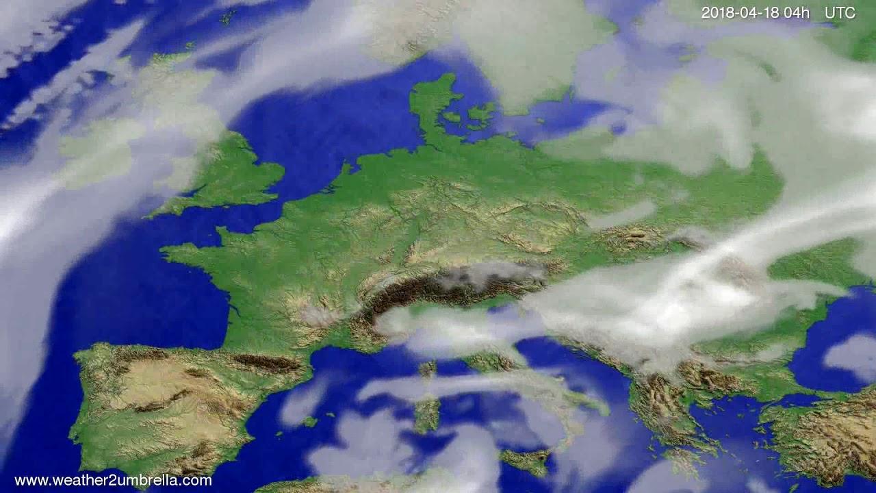 Cloud forecast Europe 2018-04-14