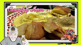 How Bout some Country Ham Cooked in Coca Cola , with Fried Eggs , Biscuits n Gravy , and Buttery Grits ... For the Full Length Down Home Kentucky Breakfast with Narration and Step by Step Preparation just Click the Link @ https://www.youtube.com/watch?v=jSyKe5Xu1dE