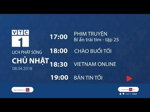Lịch phát sóng VTC1 ngày 8/4/2018 | VTC1 - Thời lượng: 116 giây.