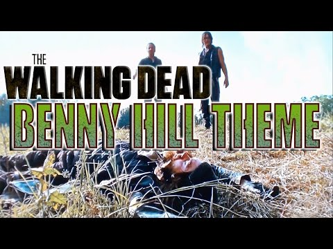 Jesus Chased by Daryl & Rick Walking Dead Benny Hill Theme | Season 6 | Episode 10
