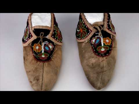 Still image from Melanie Yazzie: Art Lives Here activity inspired by moccasins